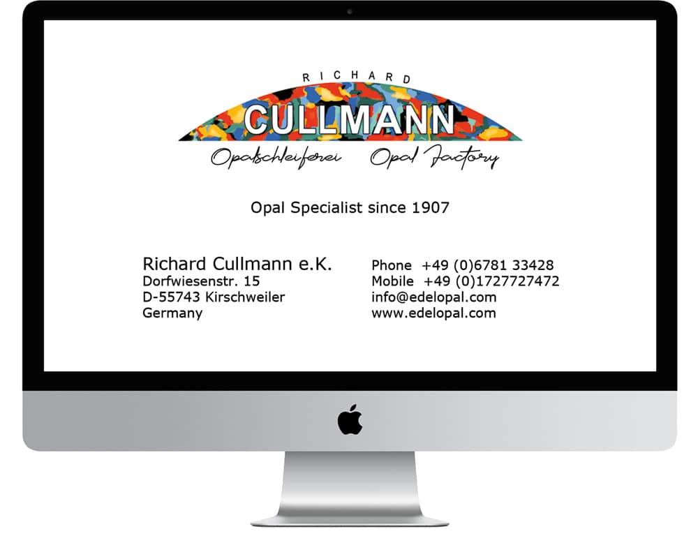 Edelopale Boulderopale Schwarzopale von Richard Cullmann e.K. Opalschleiferei Logo